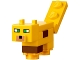 Part No: mineocelot01  Name: Minecraft Ocelot, Plate, Round 1 x 1 with Flower Edge Feet - Brick Built