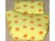 Part No: sleepbag12  Name: Duplo, Cloth Sleeping Bag with Orange Flowers Pattern