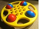 Part No: x1718c02  Name: Duplo Rattle Circular with Red/Blue Wheels