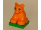 Part No: 2334c03pb01  Name: Duplo Lion Baby Cub on Green Base