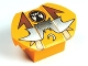 Part No: 30600pb08  Name: Brick, Modified 2 x 2 No Studs, Sloped with Flared Wings and Ghost Pattern