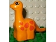 Part No: 31045pb01  Name: Duplo Dinosaur Brachiosaurus Baby with Orange Spots Pattern