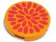 Part No: 4150px22  Name: Tile, Round 2 x 2 with Dark Pink Teardrops (Flower Center) Pattern (Belville)
