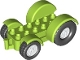 Part No: 15313c03  Name: Duplo, Vehicle Car Base 2 x 6 Tractor with Mudguards and White Wheels with Black Tires