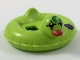 Part No: 28421pb02  Name: Minifigure, Utensil Swim Ring / Floatie Duck Inflatable with Green Moon, Dark Purple Patch and Red Bill Pattern