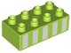 Part No: 3011pb050  Name: Duplo, Brick 2 x 4 with 5 White Vertical Stripes Pattern