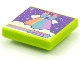 Part No: 3068bpb1539  Name: Tile 2 x 2 with Groove with BeatBit Album Cover - Castle on Rainbow and Clouds Pattern