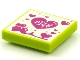 Part No: 3068bpb1574  Name: Tile 2 x 2 with Groove with BeatBit Album Cover - Magenta Hearts Pattern