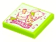 Part No: 3068bpb1577  Name: Tile 2 x 2 with Groove with BeatBit Album Cover - Ice Cream Treats Pattern