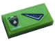 Part No: 3069bpb0877R  Name: Tile 1 x 2 with Groove with Air Vent and Lamborghini Logo Pattern Model Right Side (Sticker) - Set 76899