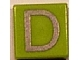 Part No: 3070bpb012  Name: Tile 1 x 1 with Groove with Letter Capital D Pattern
