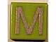 Part No: 3070bpb021  Name: Tile 1 x 1 with Groove with Letter Capital M Pattern