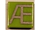 Part No: 3070bpb037  Name: Tile 1 x 1 with Groove with Letter Æ Pattern
