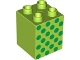 Part No: 31110pb071  Name: Duplo, Brick 2 x 2 x 2 with Green Dots Pattern