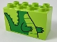 Part No: 31111pb048  Name: Duplo, Brick 2 x 4 x 2 with Alligator / Crocodile Body and Tail Pattern
