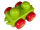 Part No: 31605c02  Name: Primo Vehicle Wagon with Red Wheels and Tow Hitches