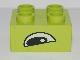 Part No: 3437pb010  Name: Duplo, Brick 2 x 2 with Eye, Alligator / Crocodile Slanted Pattern, on Two Sides