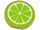 Part No: 4150pb159  Name: Tile, Round 2 x 2 with Lime Fruit Slice Pattern (Sticker) - Set 41035