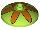 Part No: 43898pb006  Name: Dish 3 x 3 Inverted (Radar) with Orange Flower 6 Petals Pattern