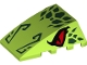 Part No: 47753pb100  Name: Wedge 4 x 4 No Studs with Red Eyes and Dark Green Scales and Nose Pattern