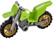 Part No: 50860c04  Name: Motorcycle Dirt Bike with Flat Silver Chassis and Pearl Gold Wheels