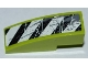 Part No: 50950pb039L  Name: Slope, Curved 3 x 1 No Studs with Black and White Danger Stripes, Splatters and Scratches Pattern Model Left Side (Sticker) - Set 8708