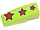 Part No: 50950pb066  Name: Slope, Curved 3 x 1 with 3 Red Stars Pattern (Sticker) - Set 60055