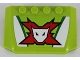 Part No: 52031pb103  Name: Wedge 4 x 6 x 2/3 Triple Curved with World Racers Team Extreme Logo Pattern (Sticker) - Set 8864