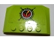 Part No: 52031pb137  Name: Wedge 4 x 6 x 2/3 Triple Curved with Volcano Explorers Logo Compass Pattern (Sticker) - Set 60122