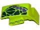 Part No: 61071pb004  Name: Technic, Panel Car Mudguard Left with Dark Green and Dark Purple Scales Pattern (Sticker) - Set 9445