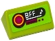 Part No: 85984pb080  Name: Slope 30 1 x 2 x 2/3 with Radio with 'BFF' and Music Note Pattern (Sticker) - Set 41091
