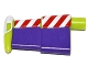 Part No: 88065pb01  Name: Minifigure Spacesuit Wing with Red and White Stripes and Purple Wing Surface Pattern (Buzz Lightyear)