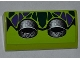 Part No: 88930pb016  Name: Slope, Curved 2 x 4 x 2/3 with Bottom Tubes with Dark Green and Dark Purple Scales and 2 Exhaust Pipes Pattern (Sticker) - Set 9445