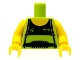 Part No: 973pb0711c01  Name: Torso Tank Top with Black Front and Weight Lifter's Belt Pattern / Yellow Arms / Yellow Hands