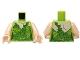 Part No: 973pb1107c01  Name: Torso Batman Poison Ivy Plant Foliage Pattern / Light Flesh Arms / Light Flesh Hands