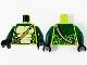 Part No: 973pb3425c01  Name: Torso Ninjago Snake with Dark Tan Shoulder Belt and Green and Tan Scales Pattern / Dark Green Arms / Black Hands (Spitta)