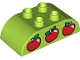 Part No: 98223pb002  Name: Duplo, Brick 2 x 4 Curved Top with Red Apples Pattern