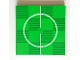 Part No: 10202pb014  Name: Tile 6 x 6 with Bottom Tubes with Soccer (Football) Pitch Center Circle Pattern