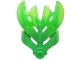Part No: 19149pb06  Name: Bionicle Mask Protector with Marbled Trans-Bright Green Pattern (Protector Mask of Jungle)
