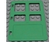 Part No: 2205  Name: Duplo Door / Window Pane 1 x 4 x 4 with Four Panes Diffrent Sizes