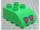 Part No: 2302pb01  Name: Duplo, Brick 2 x 3 with Curved Top and Alligator / Crocodile Foot Pattern