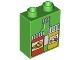 Part No: 4066pb399  Name: Duplo, Brick 1 x 2 x 2 with Medicine and Pill Bottles Pattern