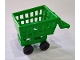 Part No: 49649c01  Name: Minifigure, Utensil Shopping Cart Frame with Black Wheels Skateboard / Trolley (49649 / 2496)