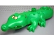 Part No: 87963c01pb02  Name: Duplo Alligator / Crocodile Third Version with Opening Jaw and Wide Snout with Crossed Eyes