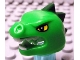 Part No: 95322pb01  Name: Minifigure, Headgear Mask Lizard with Yellow Eyes Pattern, White Teeth and Dark Green Horns