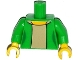 Part No: 973pb2005c01  Name: Torso Simpsons Female Jacket over Tan Shirt Pattern / Bright Green Arms / Yellow Hands