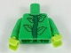 Part No: 973pb3075c01  Name: Torso with 4 Leaves on Green Stem Pattern / Bright Green Arms / Lime Hands