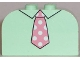 Part No: 4744px19  Name: Slope, Curved 4 x 2 x 2 Double with Four Studs with Tie Pink Pattern