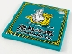 Part No: 10202pb019  Name: Tile 6 x 6 with Bottom Tubes with Gold Border, Dragon Boat, 'D H SHIPPING CO.' and Chinese Logogram '龍馬海運' (Dragon Horse Shipping Company) Pattern (Sticker) - Set 80012