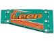 Part No: 18945pb006L  Name: Technic, Panel Plate 5 x 11 x 1 Tapered with Orange Stripes and 'LOOP' Pattern Model Left Side (Sticker) - Set 42117